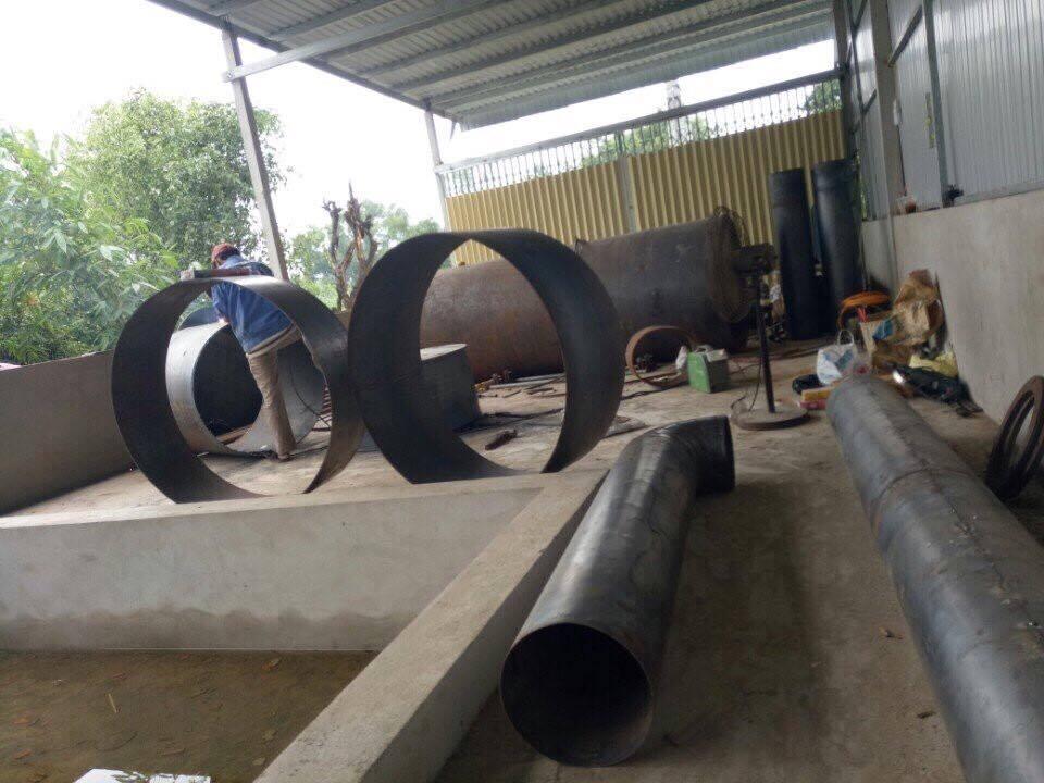 Triển khai thi công lò hơi đốt than 1000kg hơi/h